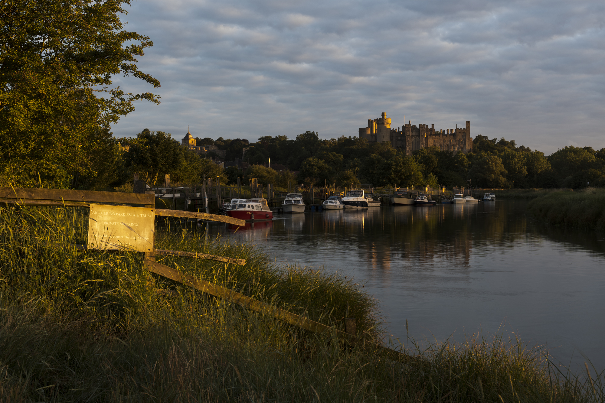 Sunrise at Arundel Castle, River Arun, West Sussex. Unedited raw file from the D7500, with the Sigma 35mm f/1.4 ART lens for full-frame.