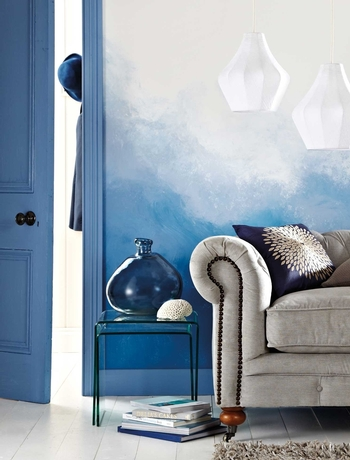 Ombre trend in interior design