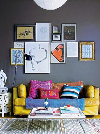 Pillows and geometrics in interior design