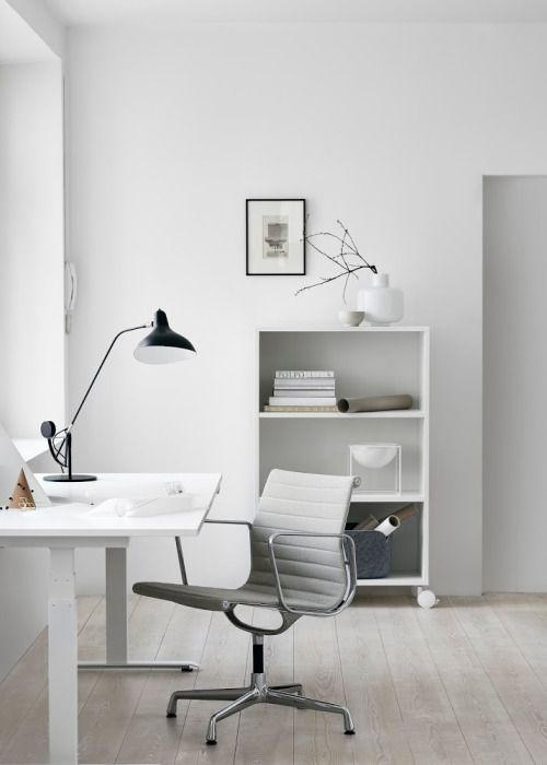 Home office space near the window
