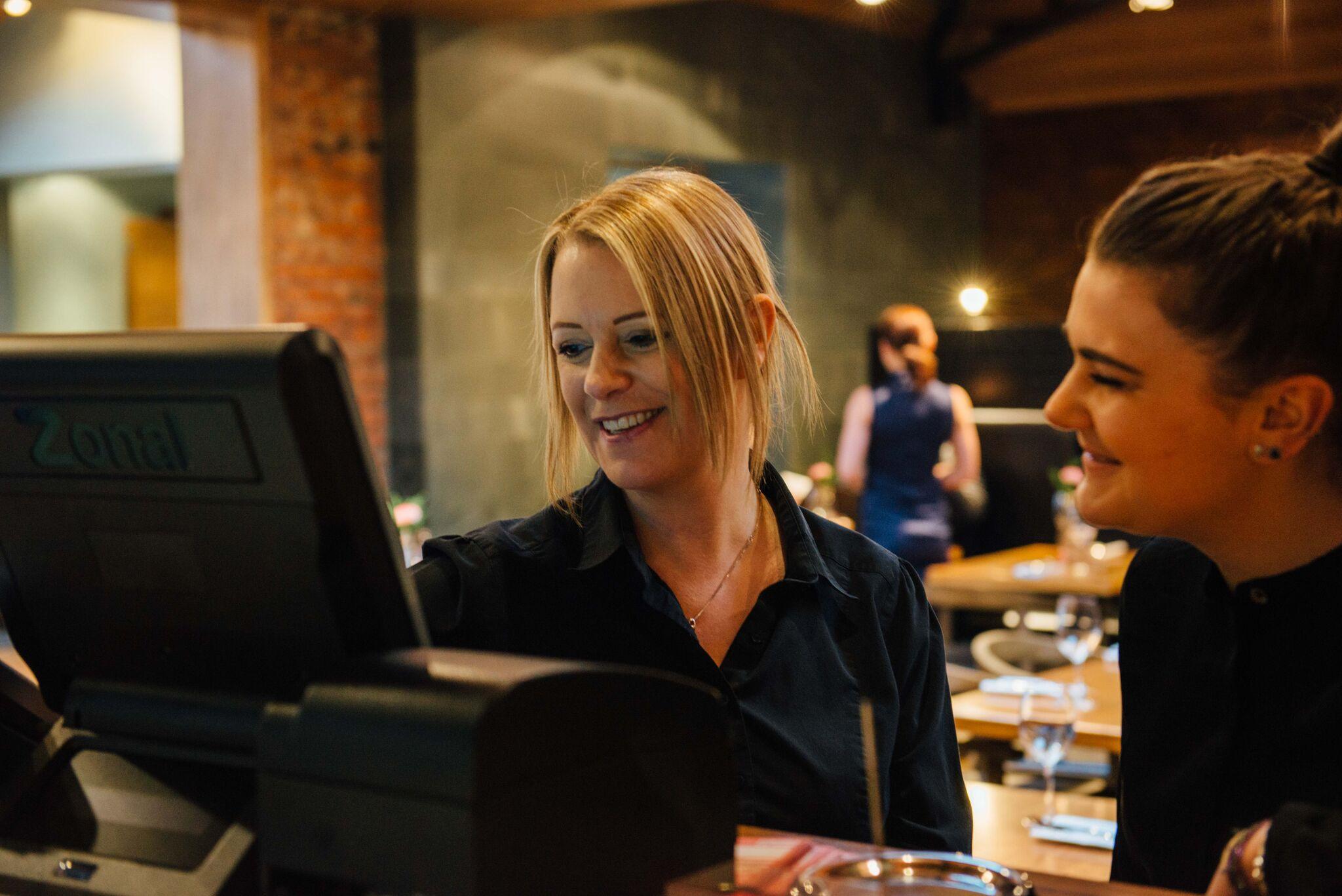 The Old Post Office Restaurant w: Waitresses.jpg