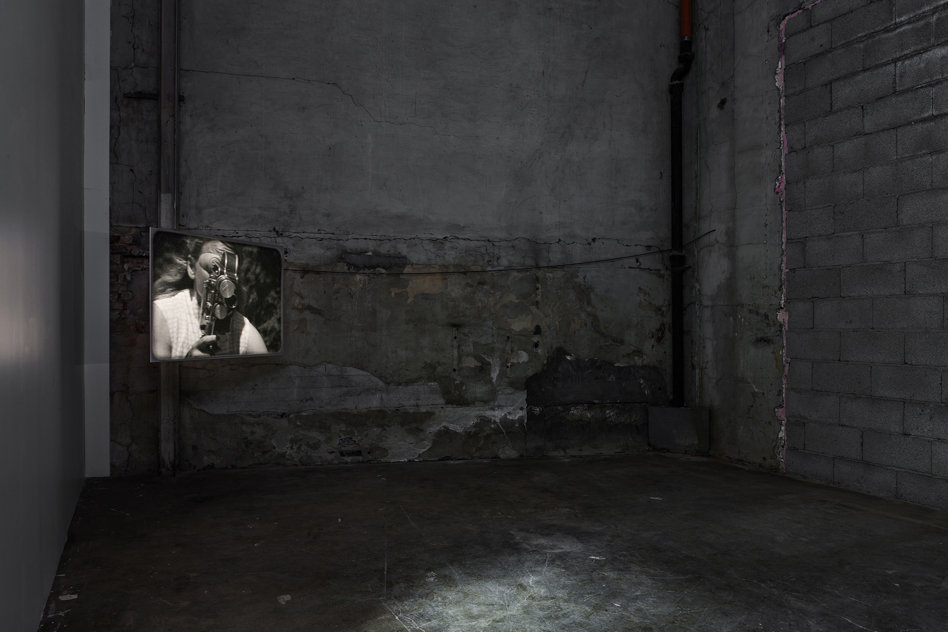 Bike and Bolex , 2012, Installation view at  Momentum 7 , Nordic Biennial for Contemporary Art, Moss, 2013