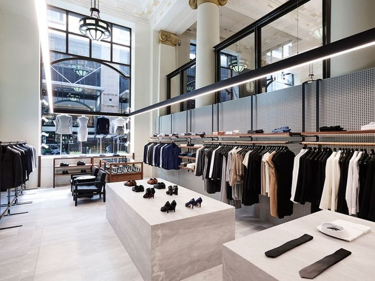 This Dynamic store has beautiful marble walls which contrast againt the old Post office stone fasica and a sleek apprearance that draws you in and makes you want to engae with the product.