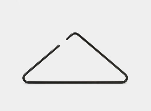 The Triangle hanger is stunning. Re-looking at an everyday item and simplifying it.