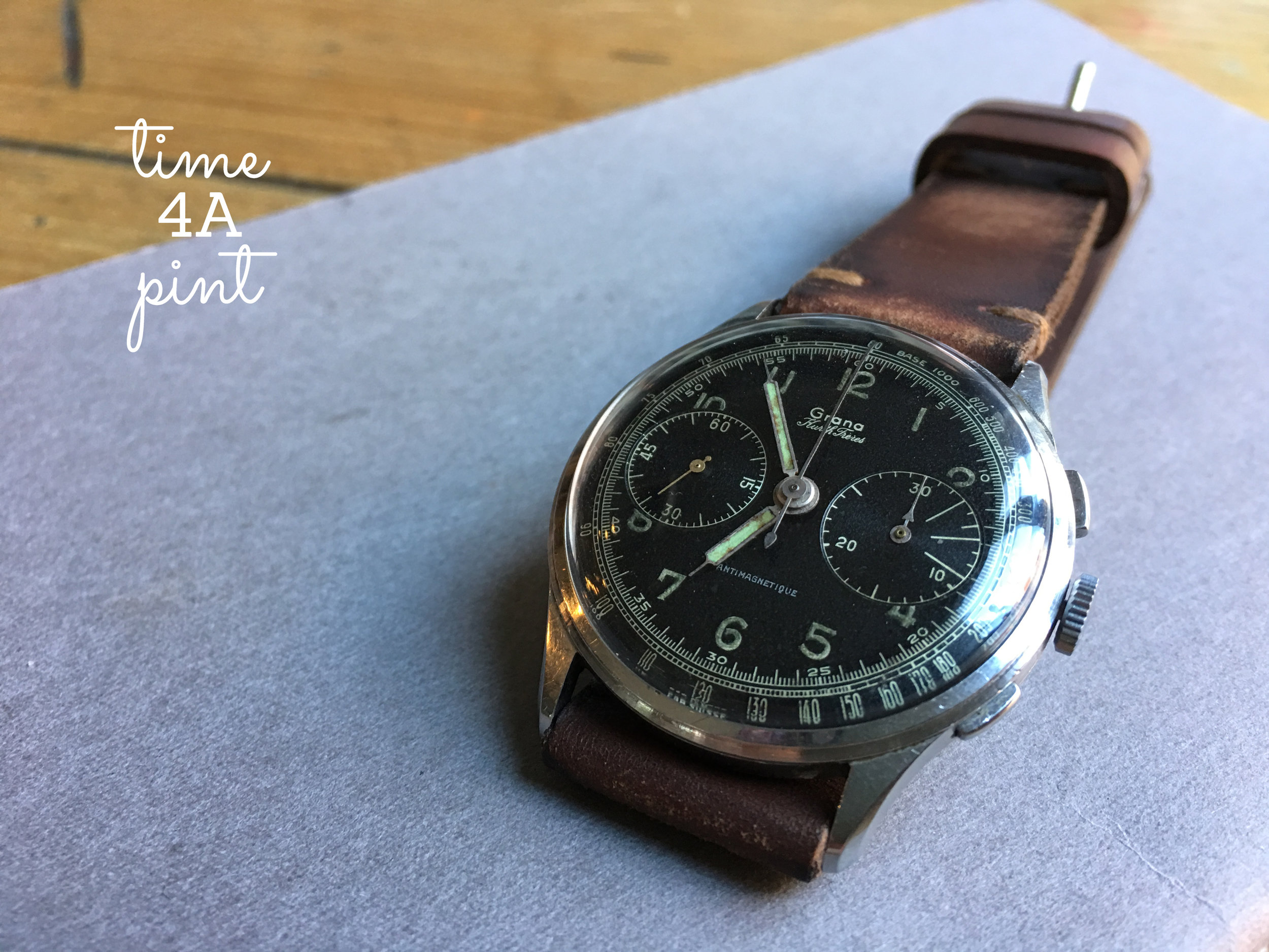 Hungarian Airforce Issued Grana Chronograph