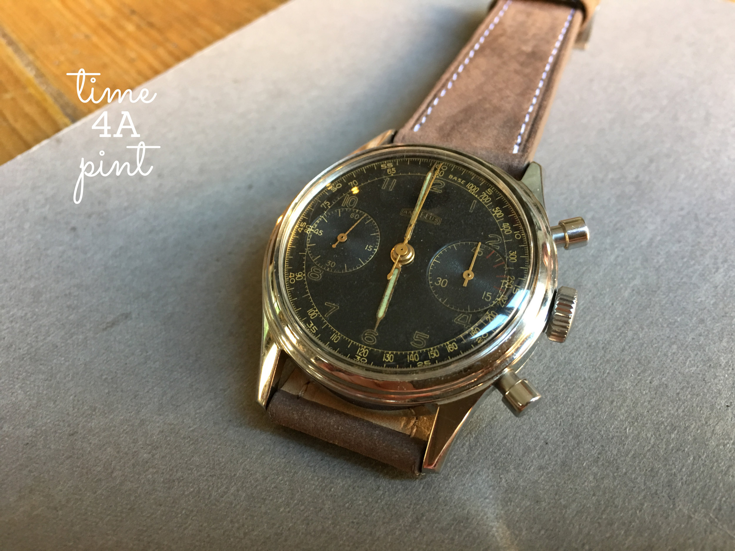 Hungarian Airforce Issued Angelus 215 Chronograph