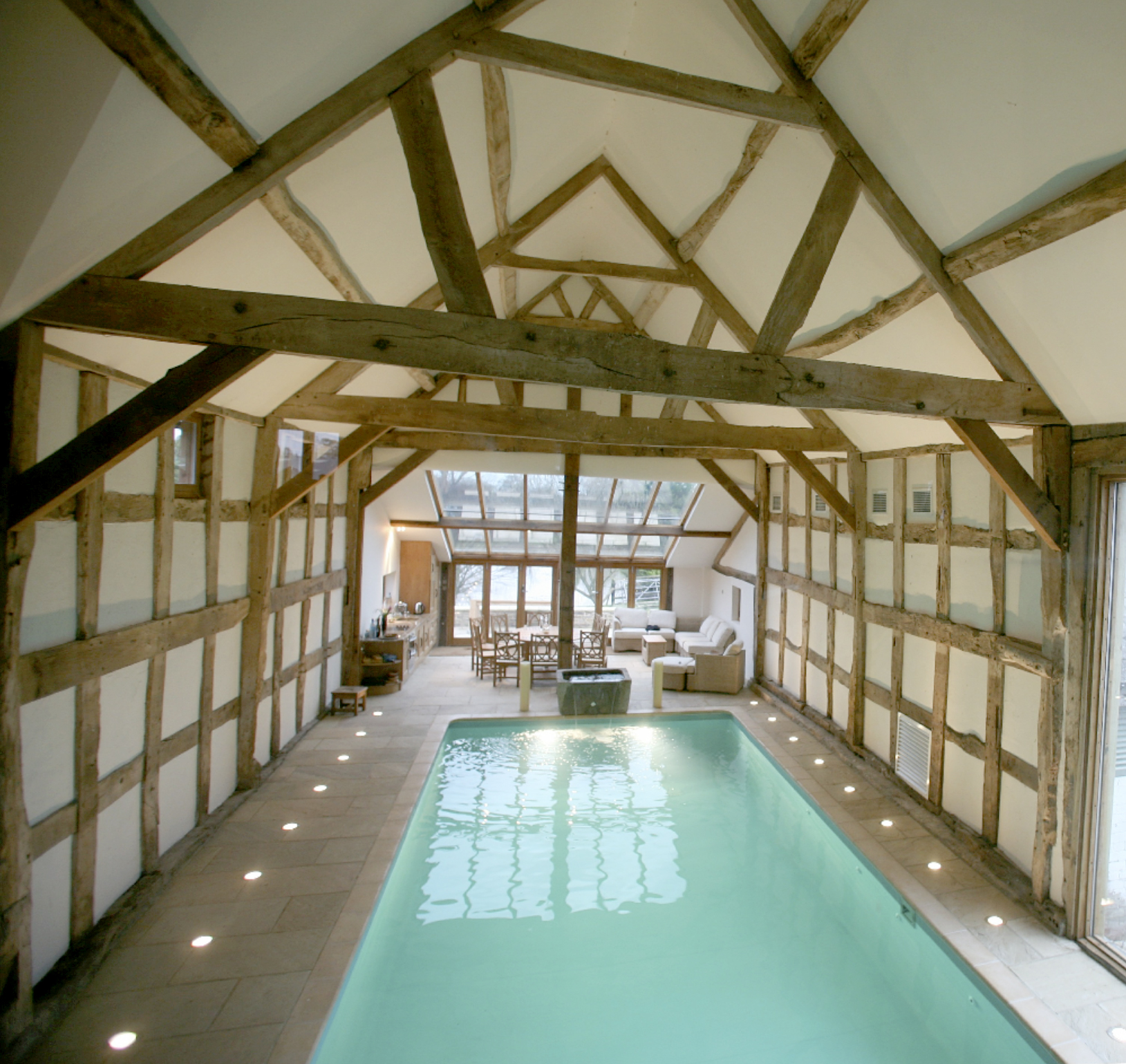 Monnington Court barn conversion swimming pool herefordshire builder groundworks.jpg
