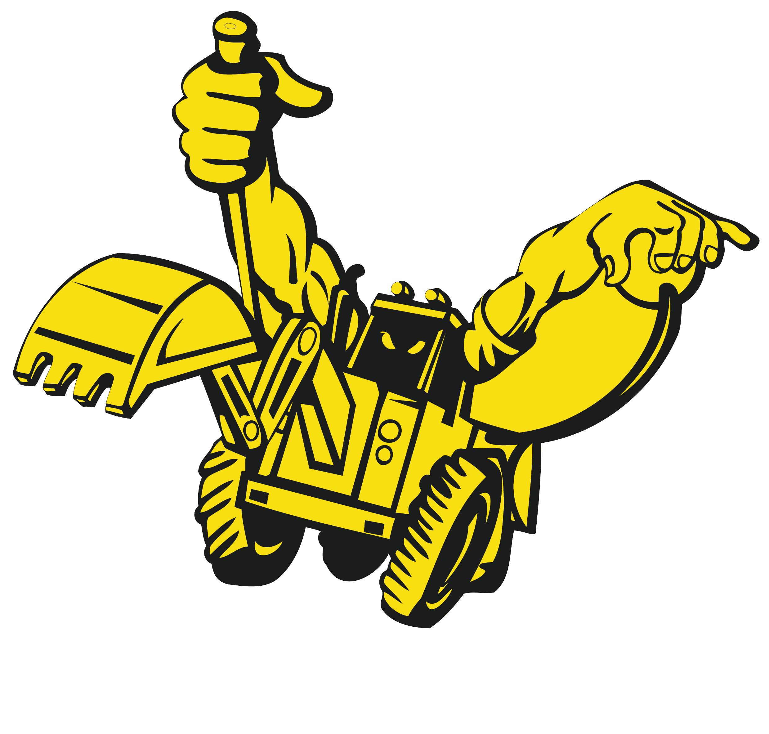 ross building groundworks digger logo