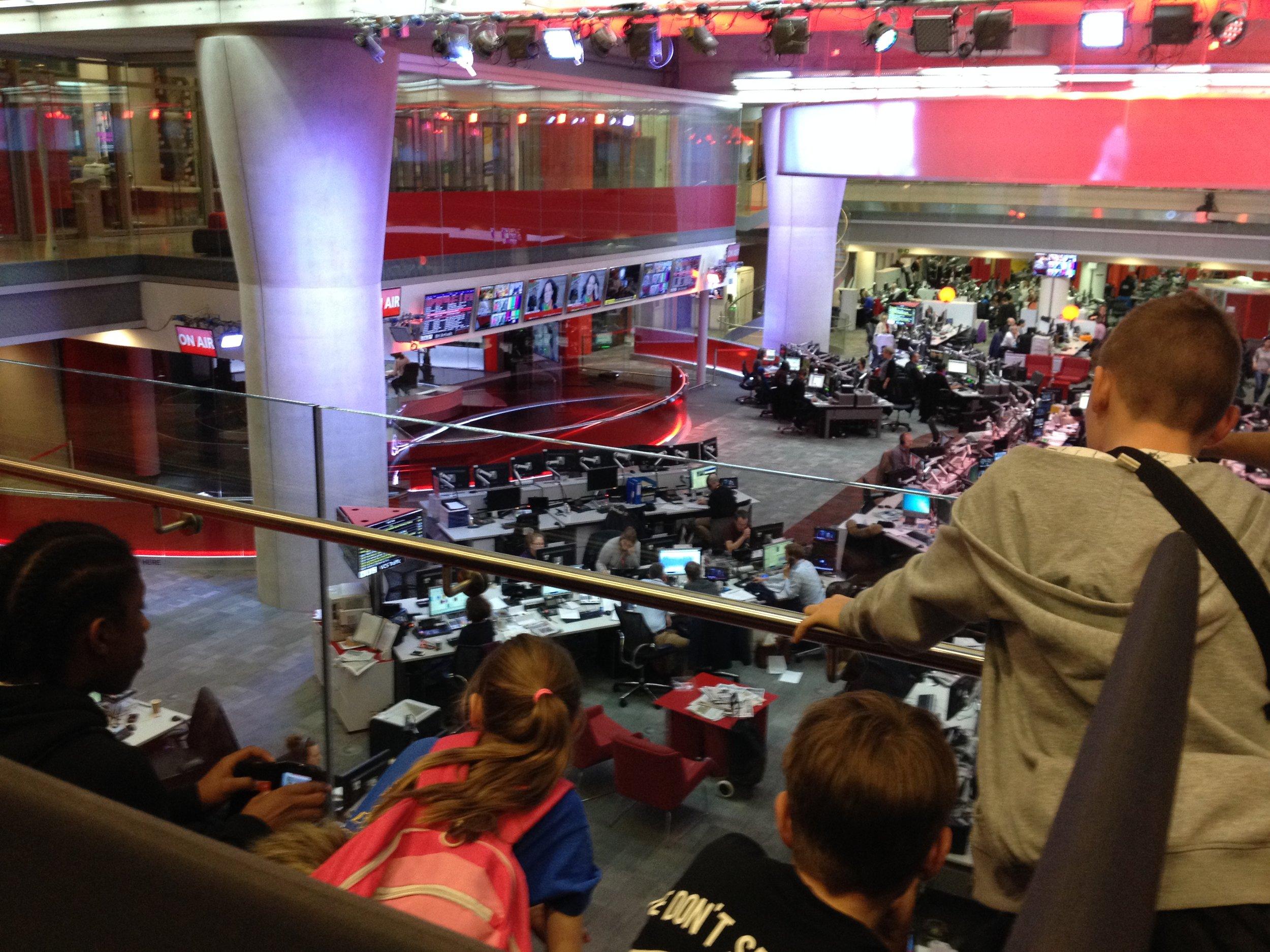 All Stars London young people at BBC Broadcasting House.