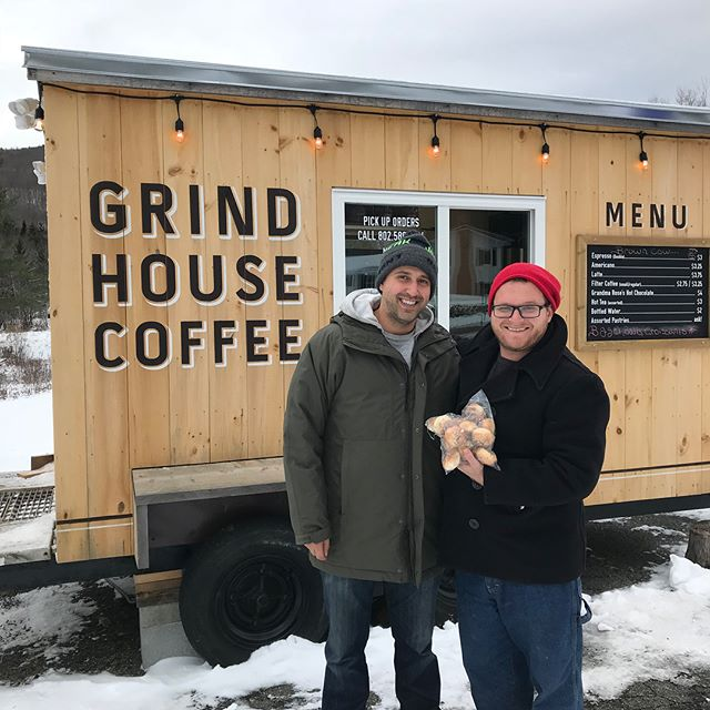 We are in Vermont delivering bagels to the amazing @grindhousecoffeevt what an amazing town and area. We are having a blast. We have amazing things going on in DC as well. Be home soon!!