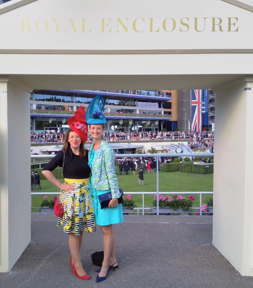 Award-winning designer Katherine Elizabeth with Sophie Bedoret, who created her hat in one of our millinery classes!