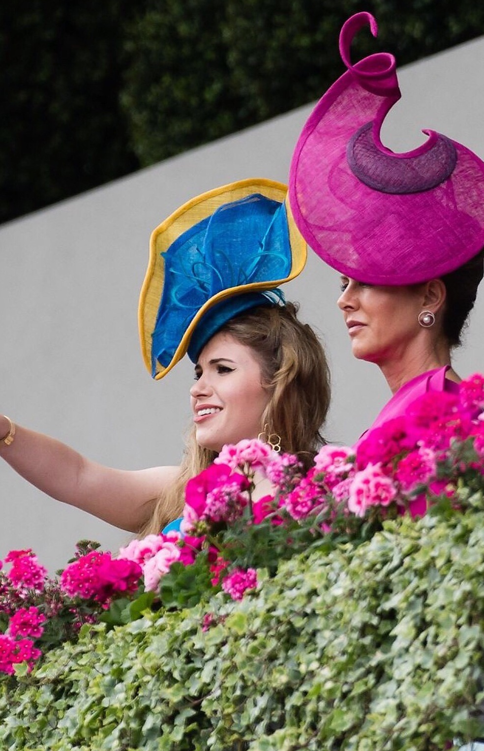 Belinda Strudwick and her Daughter Alexandra Strudwick on the Balcony at Ascot.