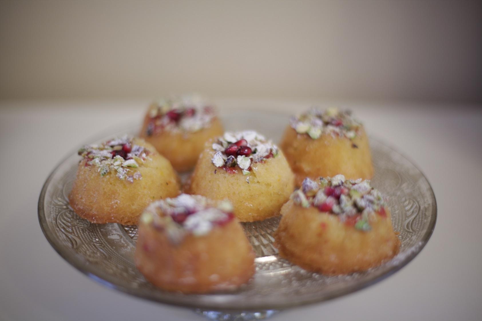 Persian Mini Bundt With Orange & Cardamom