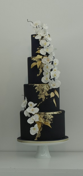 orchids and navy wedding cake - Copy.jpg
