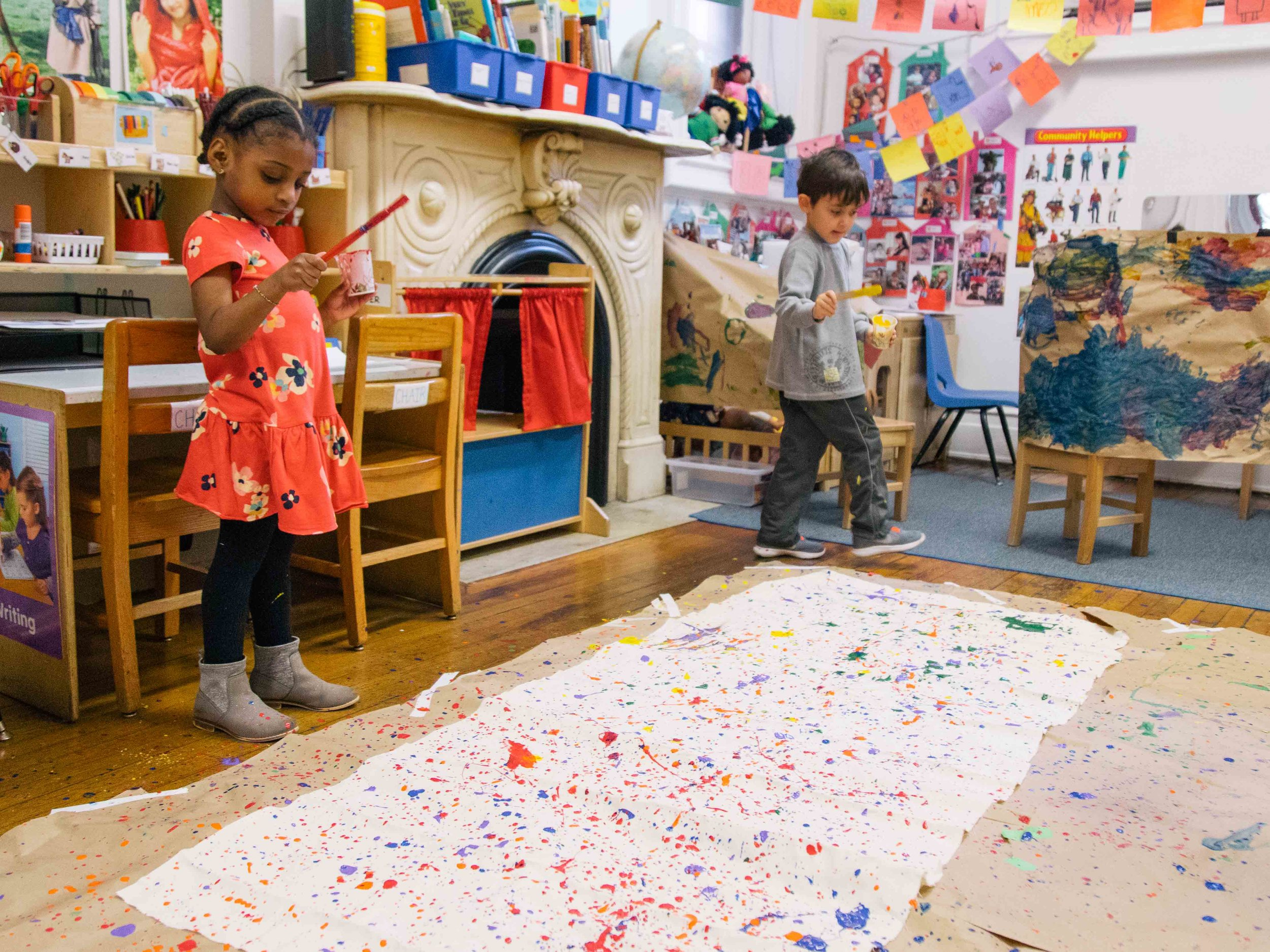 Our Preschool - runs from 8:30 - 2:45 Monday through Friday. We offer full and half day programs, as well as extended day from 7:30am - 6pm. Our first priority is to build a warm, supportive classroom community in which each child is a valued member.