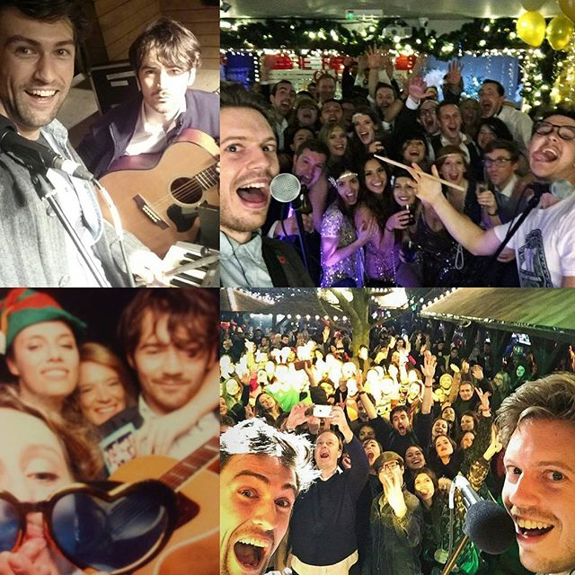 Crazy day yesterday- 3 gigs with 4 lineups in 5 hours! Fun started at 6.30 with Nick & Tom @winterwonderldn. James tagged in at half time as Nick departed for @clerkenwellsoc to meet up with Alex and play for the amazing @merchantcantos team. James and Will then rocked the @method_uk #peopleagainstdirty #xmasparty at the @dukes_head_putney. Today we're trekking up to newcastle for an army ball + bringing the party to @elpatronlondon as usual. #tmdsquad