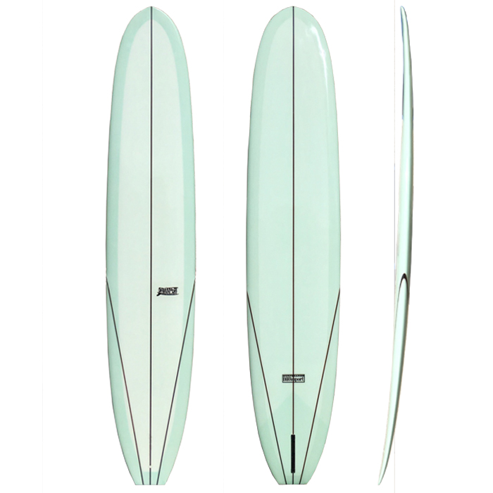 Stepdeck - This model has all of the bells and whistles! A versatile mid-sixties styled board for easy turns and extended noserides. This model is designed for the advanced surfer who wants to hotdog with the best of them. DIMENSIONSLength          9'6