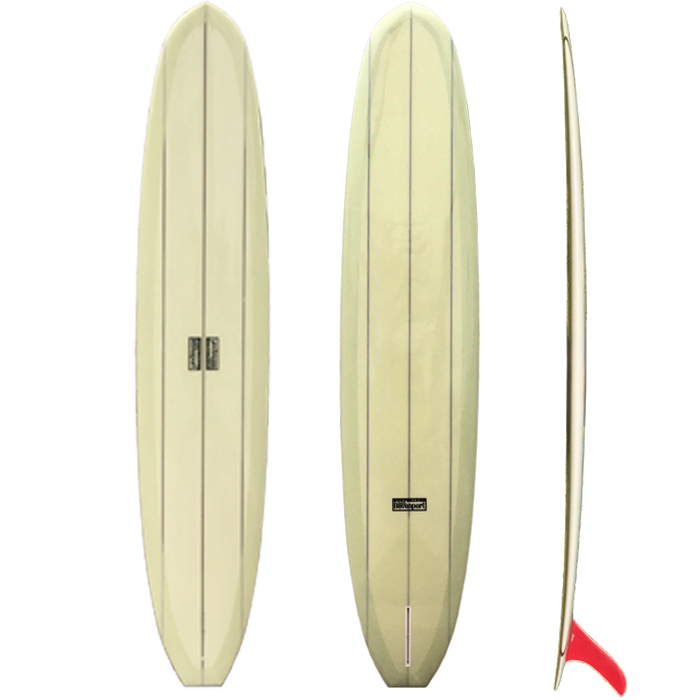 Tatsuo Special - A stylish technical noserider for the surfer with refined taste. A mid-sixties rocker combined with a semi-pig template featuring a narrow nose for deep pocket noserides. The ample tail rocker allows for superb tail control and deep cutbacks,DIMENSIONSLength           9'6