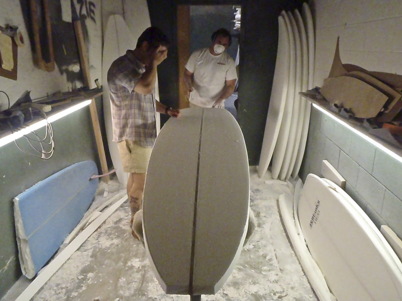 In the shaping room during the creation of the original On The Rocks model.