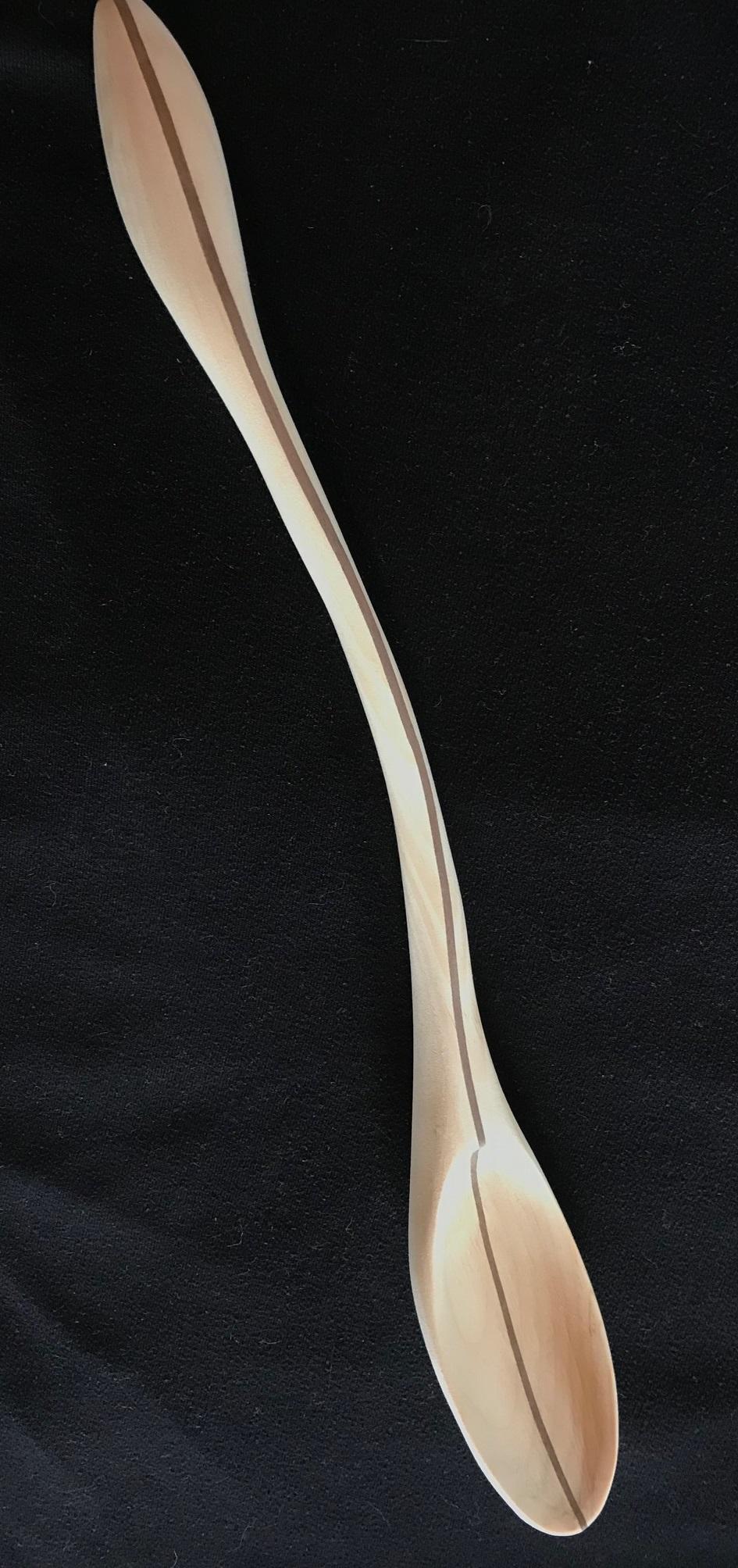 Riley Garner   Exotic Ergonomic Spoon  19 x 2.5   Blood Wood and Pine Top View.jpg