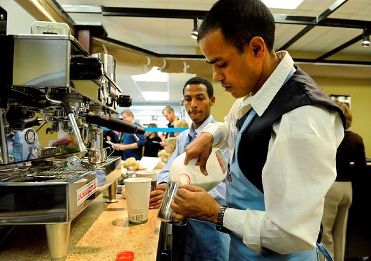 Emily Griffith Technical College has a cafe and sandwich shop where students can learn food-service skills.