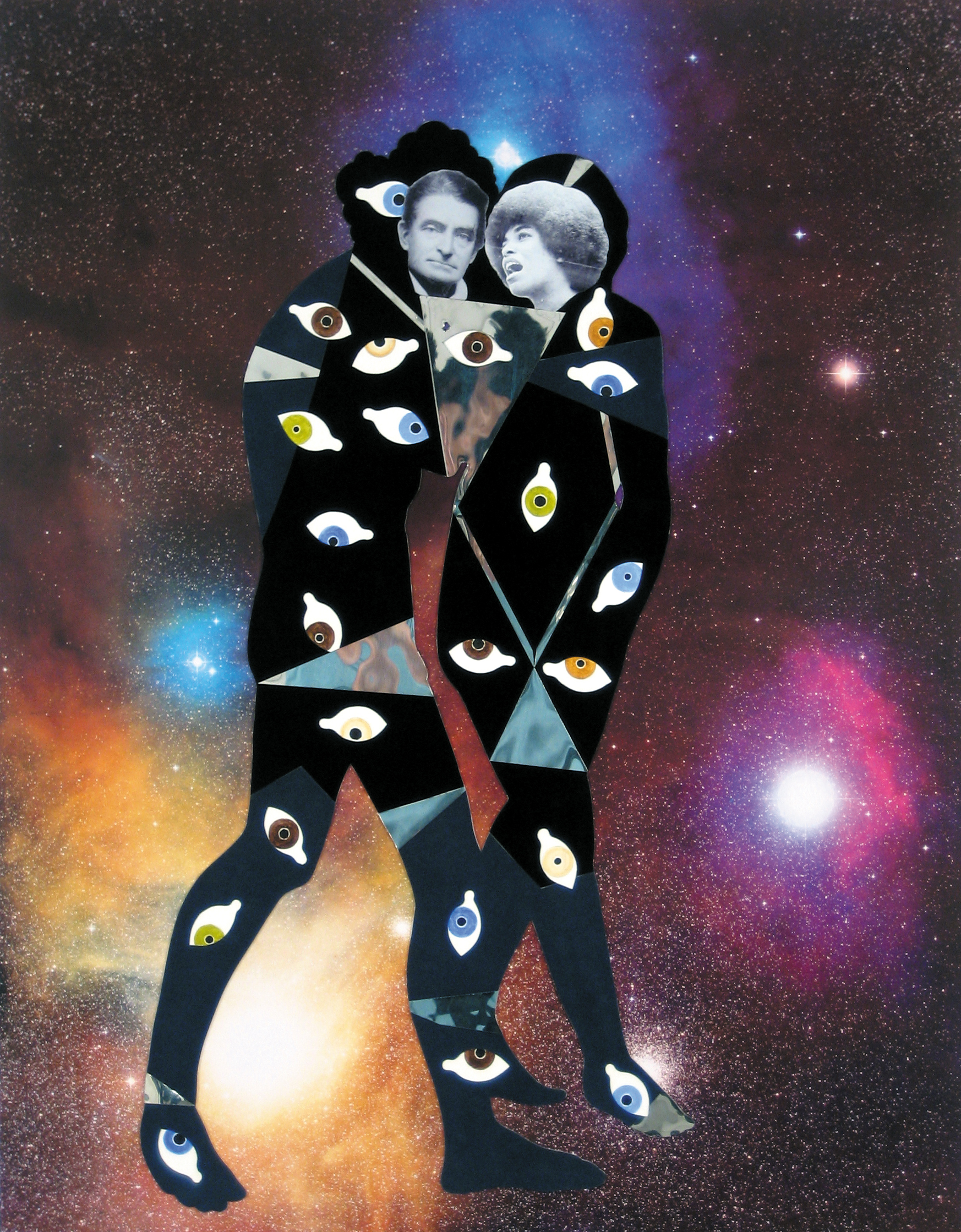 John & Angela at Antares and Reflection Nebula in the Rho Ophluchus Dark Cloud - hubble telescope poster, velour paper, mirror mylar, inkjet print, and acrylic28 x 22 in.29 x 23 x 1 1/2 in. framed