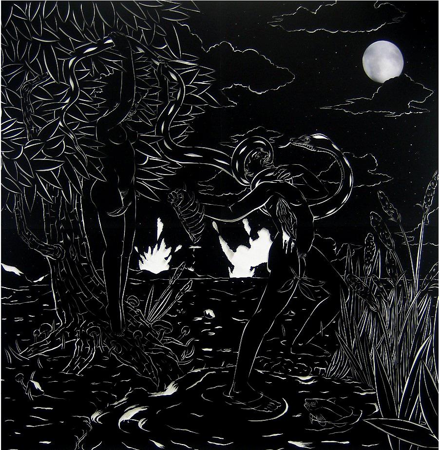 he Last Days of Eden #1 - velour paper79 x 79 in.