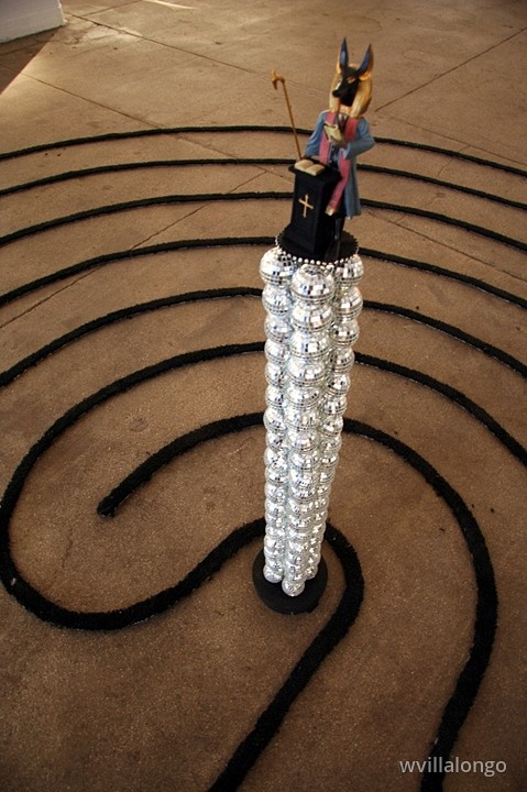 Meditations On The Last Sermon - ceramic parts, velour, mirrored balls, carpet10 ft dia. x 48 in.