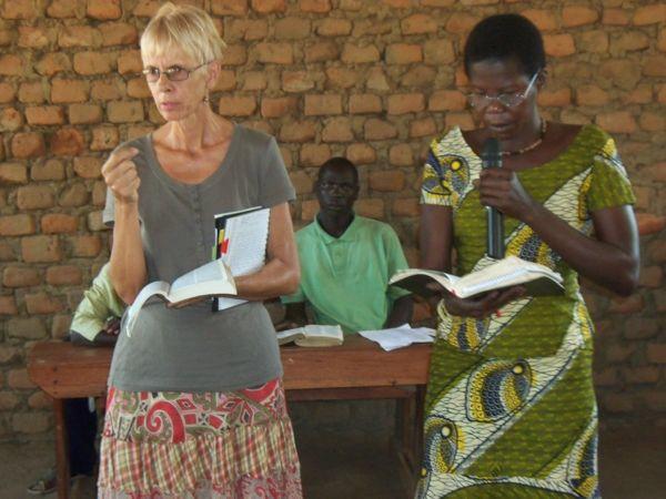 Carla teaching in Uganda