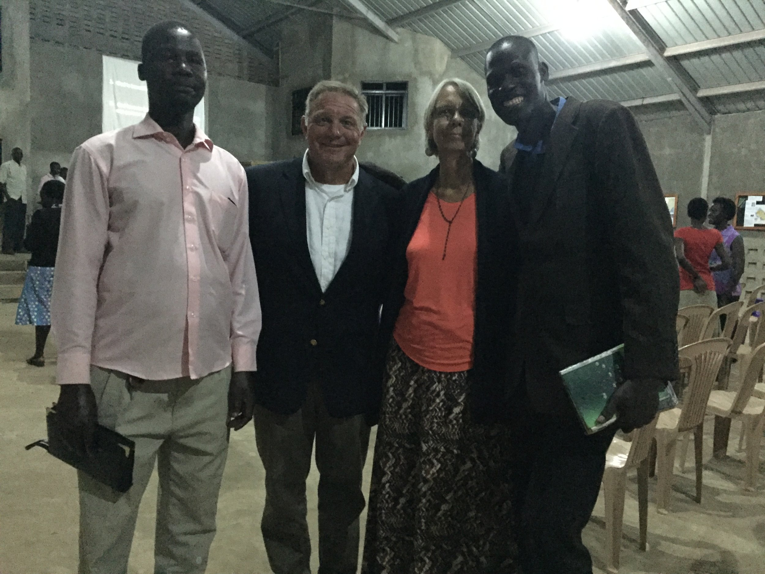 Pastor Samuel, Jim, Carla & Pastor Matthew participating in a  111 Global  house of prayer training in Tororo