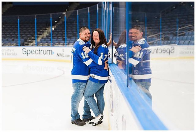 Tori + Troy | Engagement AT AMALIE ARENA!!! #GOLIGHTING