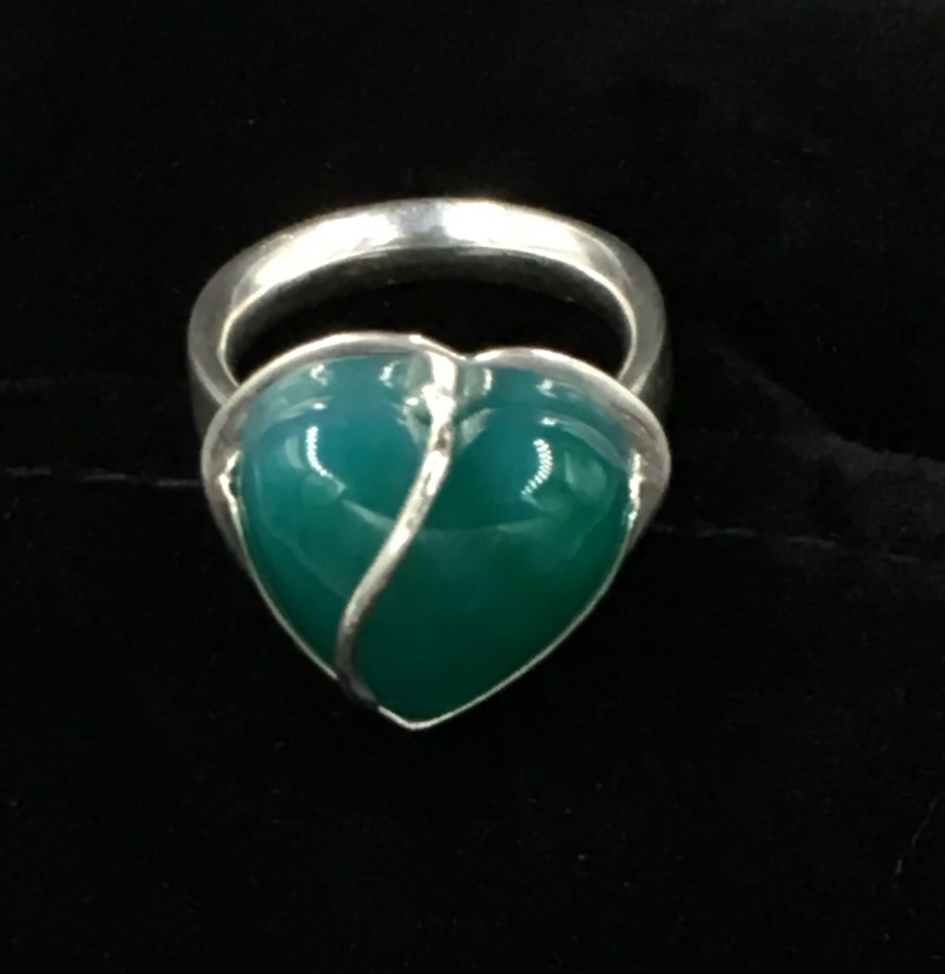 Adventurine and Sterling Ring