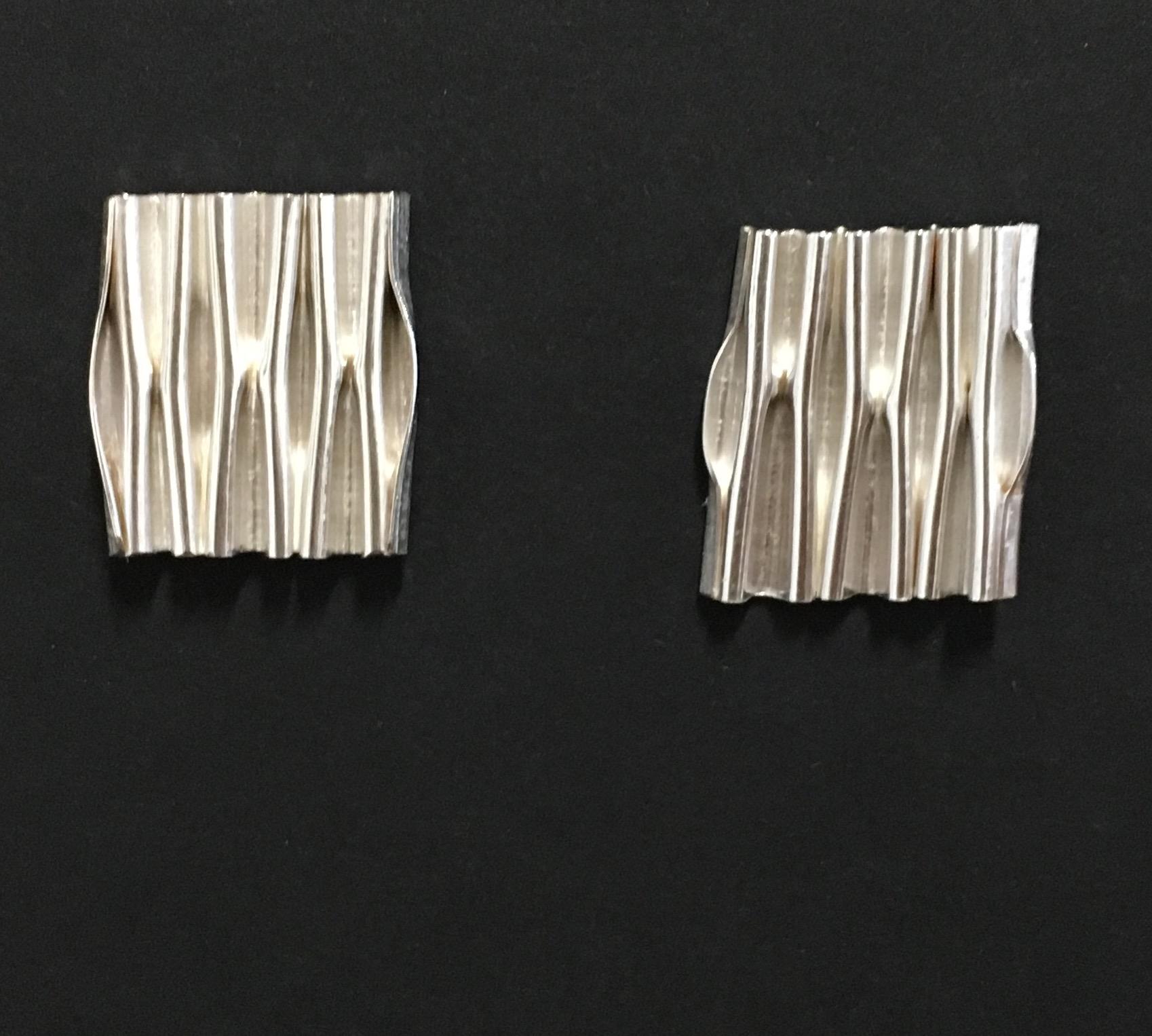 Micro-foldformed Sterling Earrings
