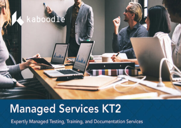 KT2   Kaboodle's managed services provide the tools, the expertise, and secure testing, training and documentation solutions.