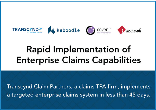 RAPID IMPLEMENTATION OF ENTERPRISE CLAIMS CAPABILITIES   Strategic Cat Solutions, a claims TPA firm, implements a targeted enterprise claims system in less than 45 days.