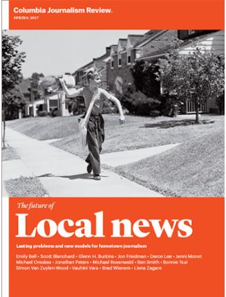 Columbia Journalism Review  sta raccogliendo una serie di articoli e analisi sul giornalismo locale.