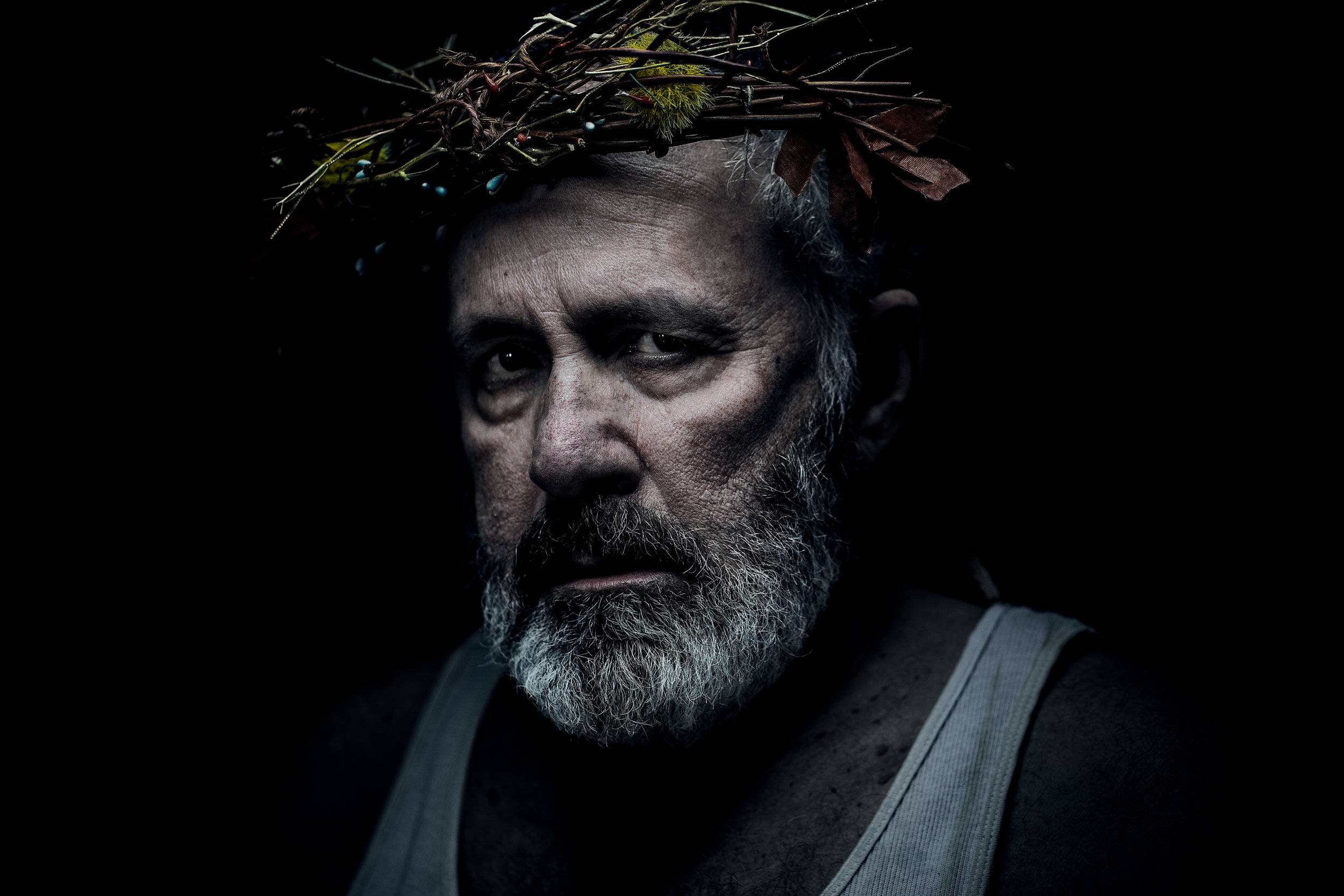 Rick Foucheux in the title role,  King Lear , WSC Avant Bard, 2017