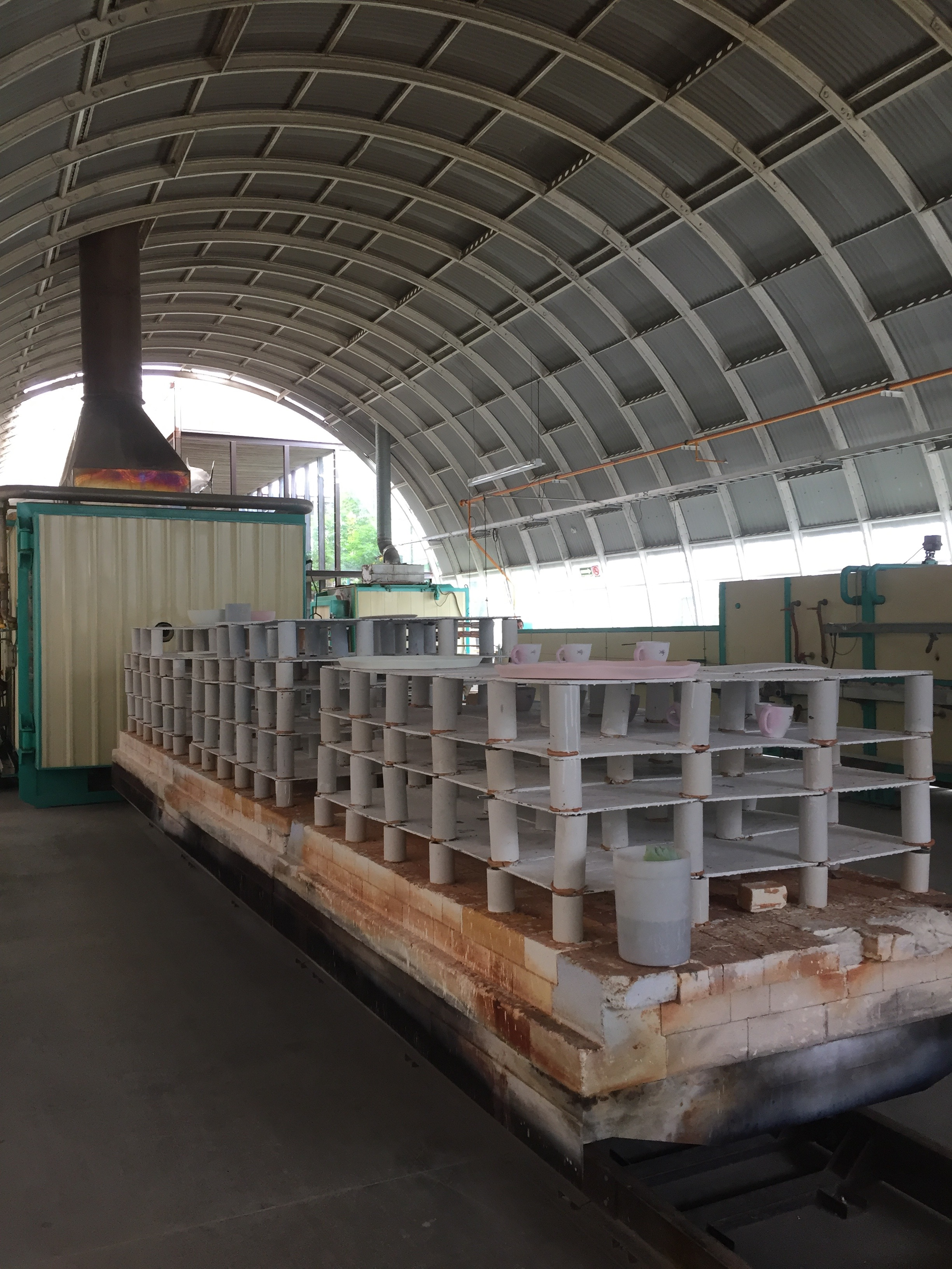 This kiln is pretty much the size of my whole studio!
