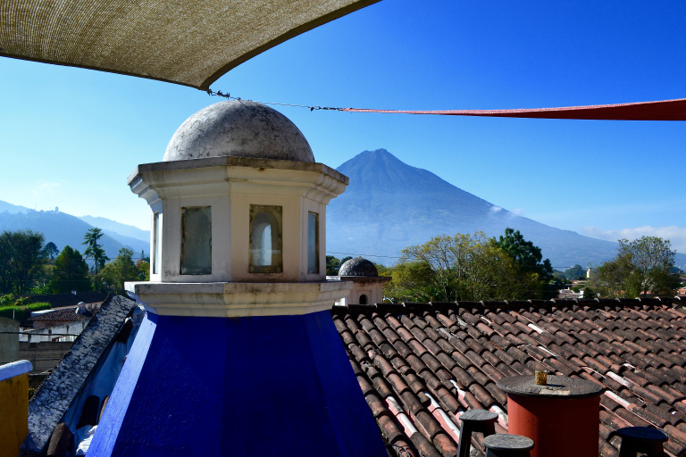 View of Volcan Auga from our Airbnb