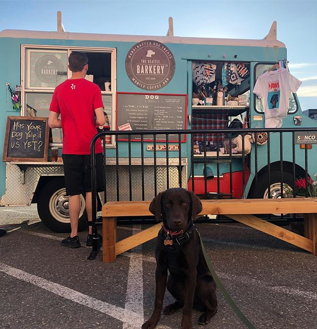 Such a fun @yelpseattleeastside event last night with @metierbrewing @chicagowestfood and, Bailey's personal favorite, @theseattlebarkery 🐶💕 which is a dog treat food truck!! Bailey gives them 5 stars, more treats please.