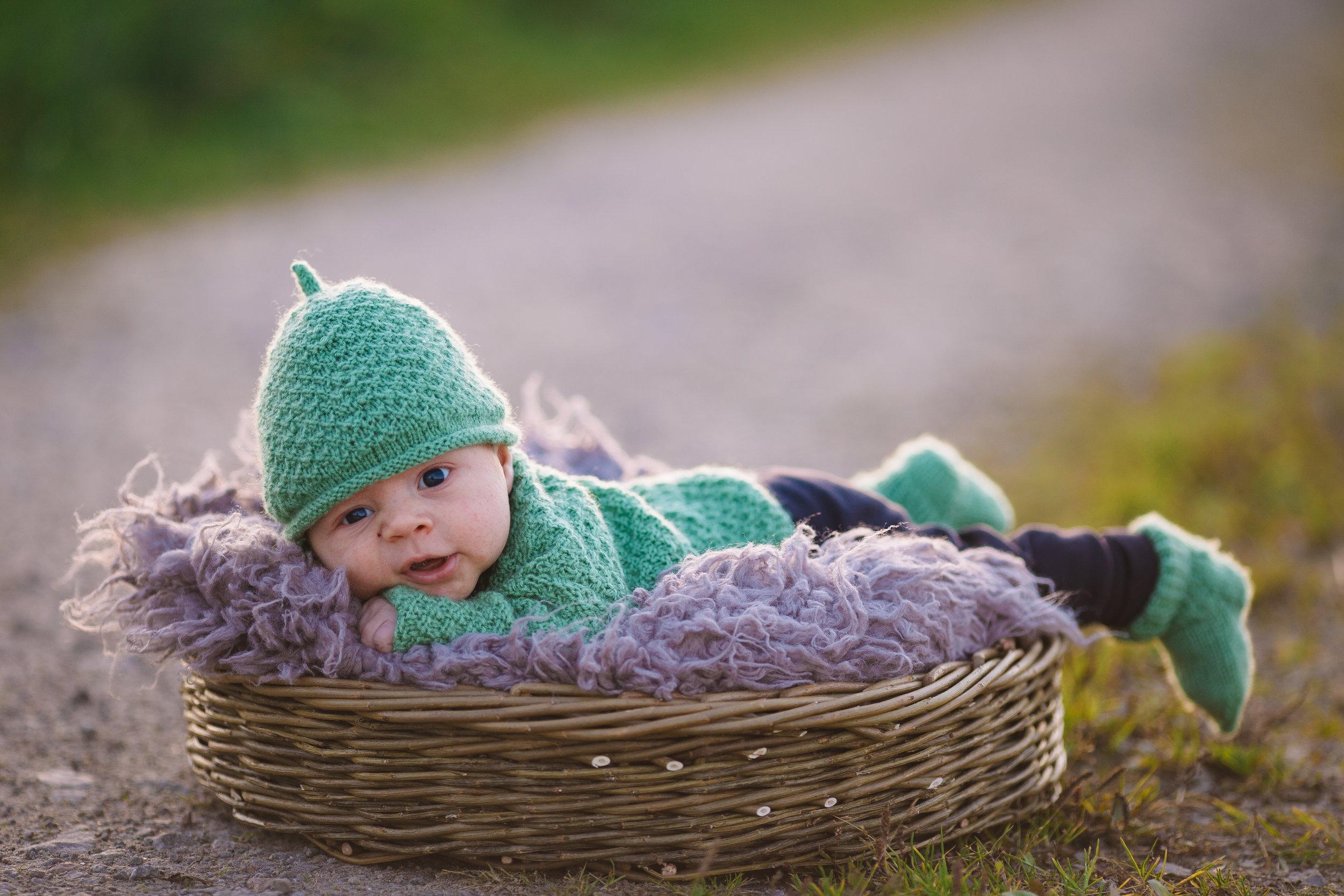 Lite Mose känsla över bilderna..en bebis…lite övergiven i en korg 😉