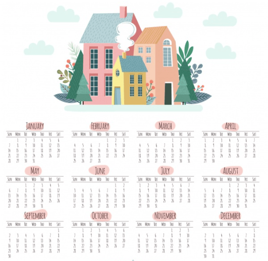 Your Real Estate Year at a Glance - For Buyers, Sellers, Renters and Homeowners