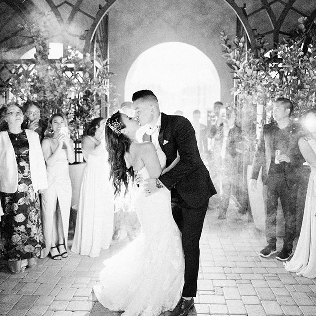 Yes!! To sparkler exits 💕🙌🏻✨. #Repost @jackieboovital ・・・ 8 years in the making & 2 months of marriage today♥ but who's counting.