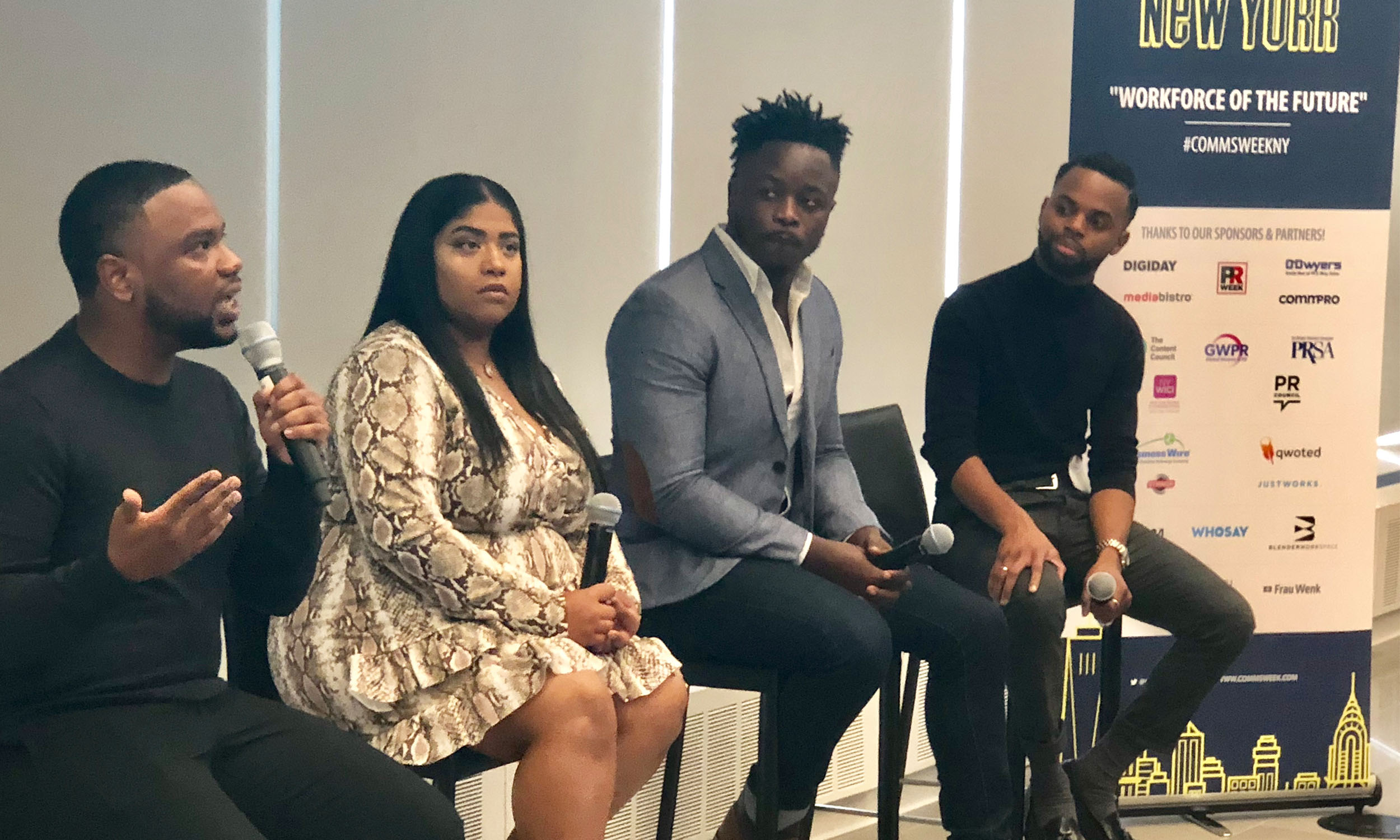 Martin, Nauth, Bastien, and Morton shared multicultural best practices during Communications Week NY at Viacom