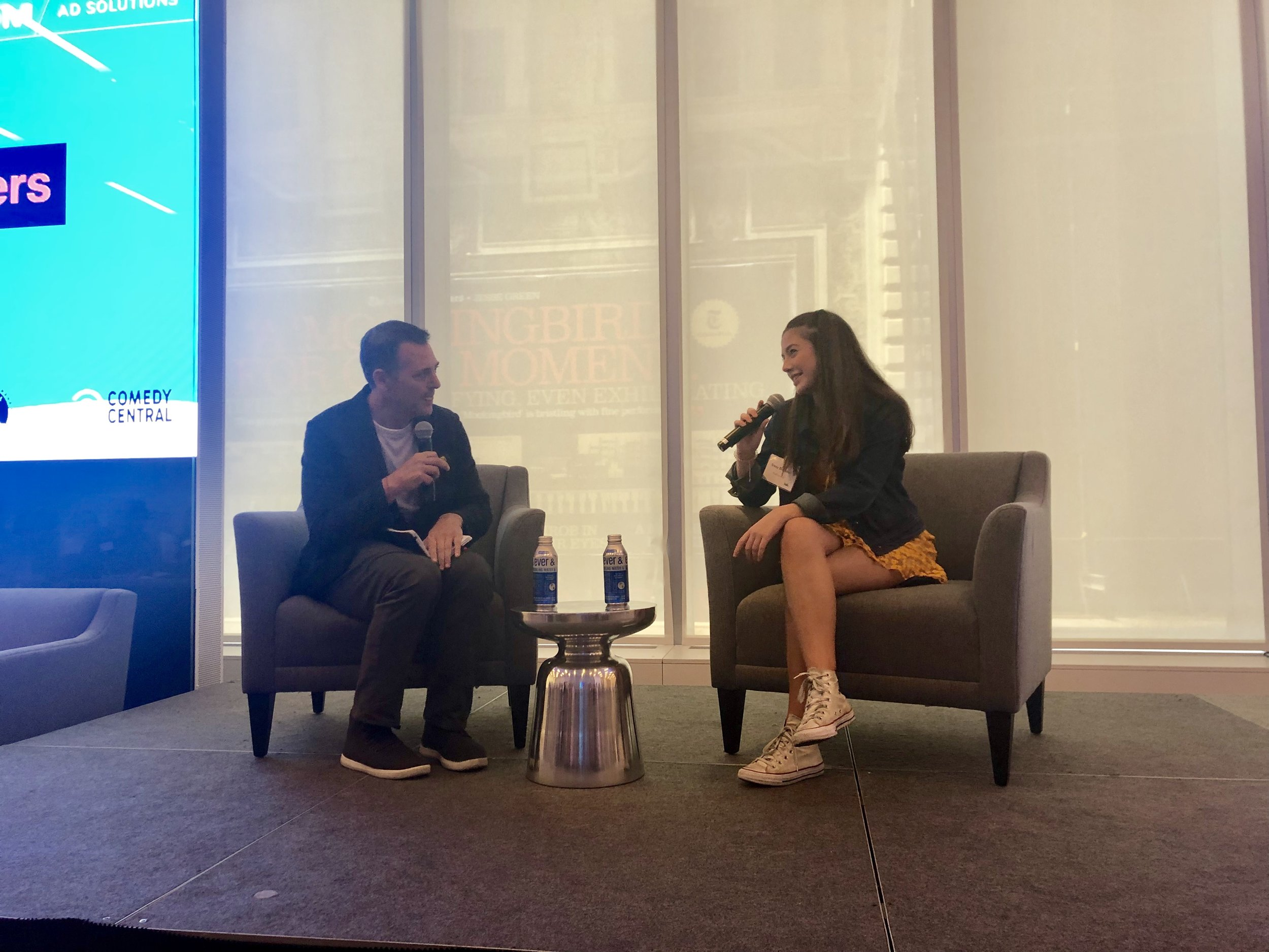 At Viacom in New York City interviewing #kidfluencer Sissy Sheridan during IAB's Influencer/UGC Marketing Day