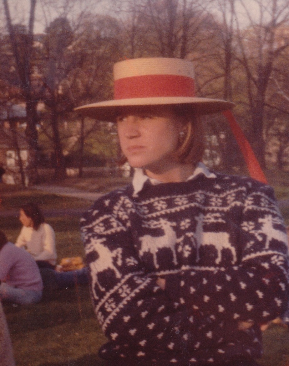 Erin Fray '84 during her time at Smith.