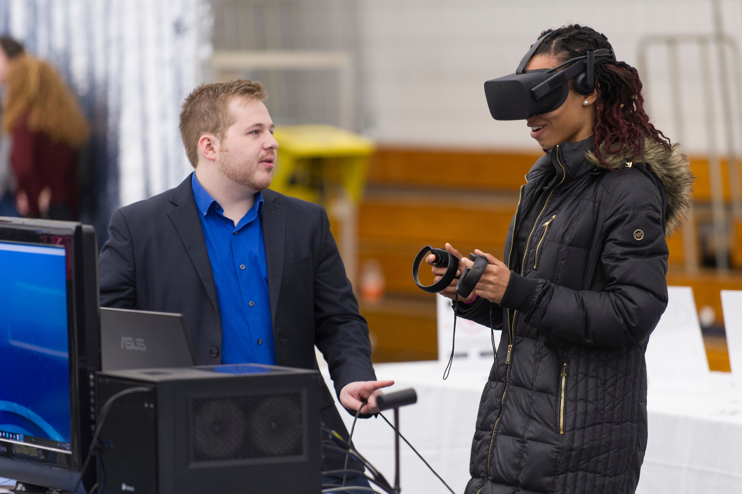 VR station at the 2018 Draper Competition.