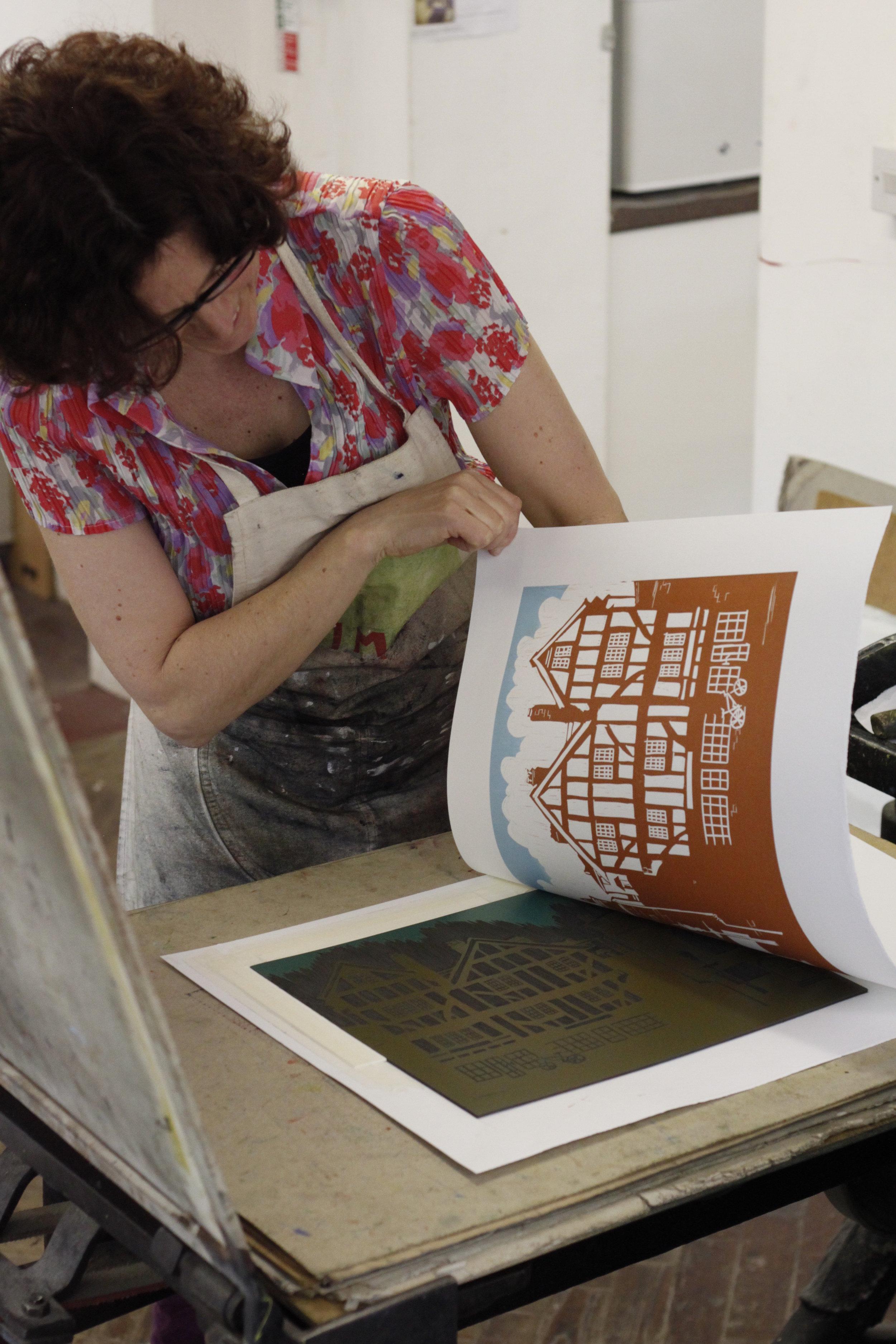 Revealing Tudor Houses Print (photo Martyn Windsor)