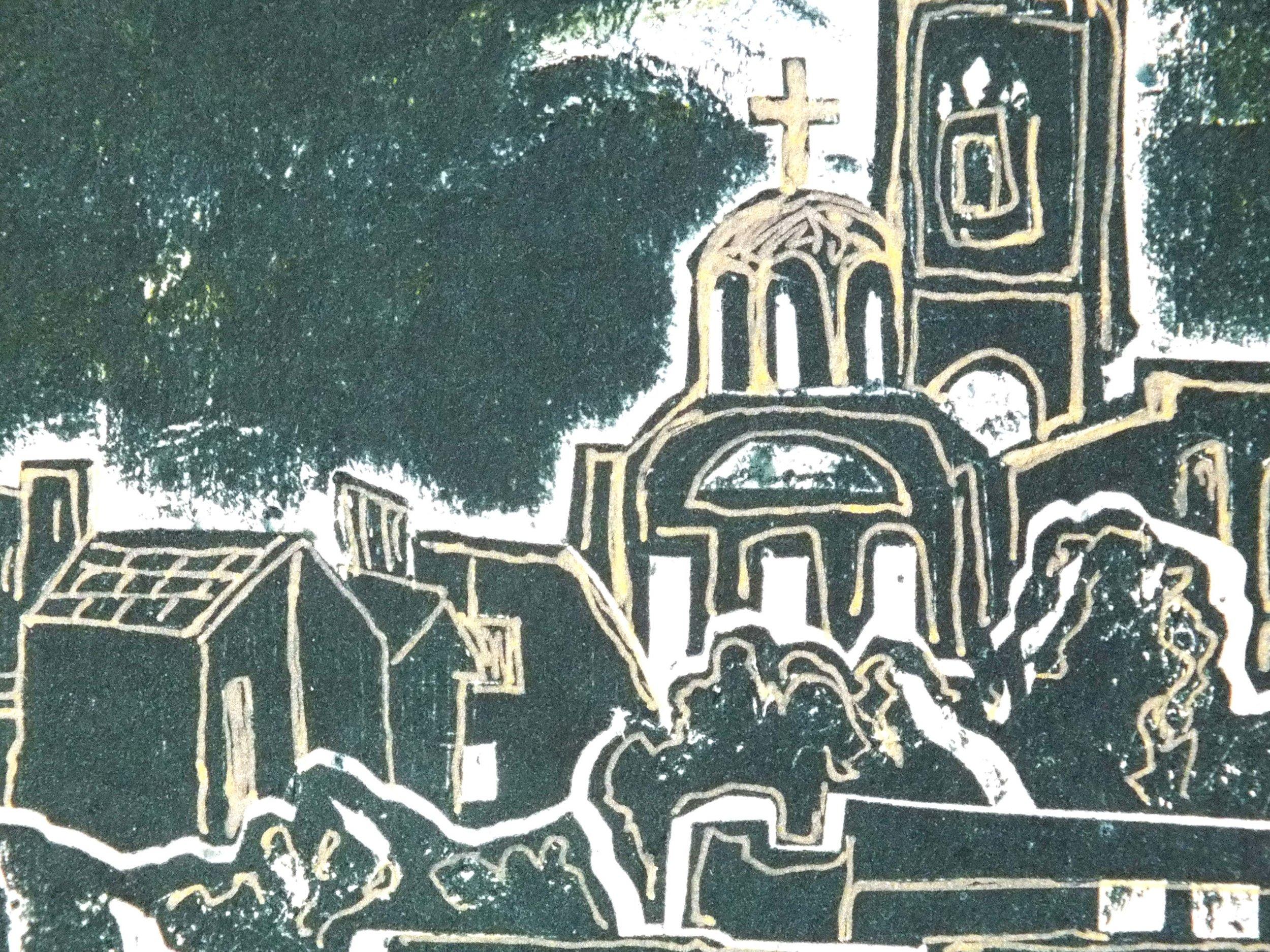 Green Belgrade Collagraph closeup 2.jpg