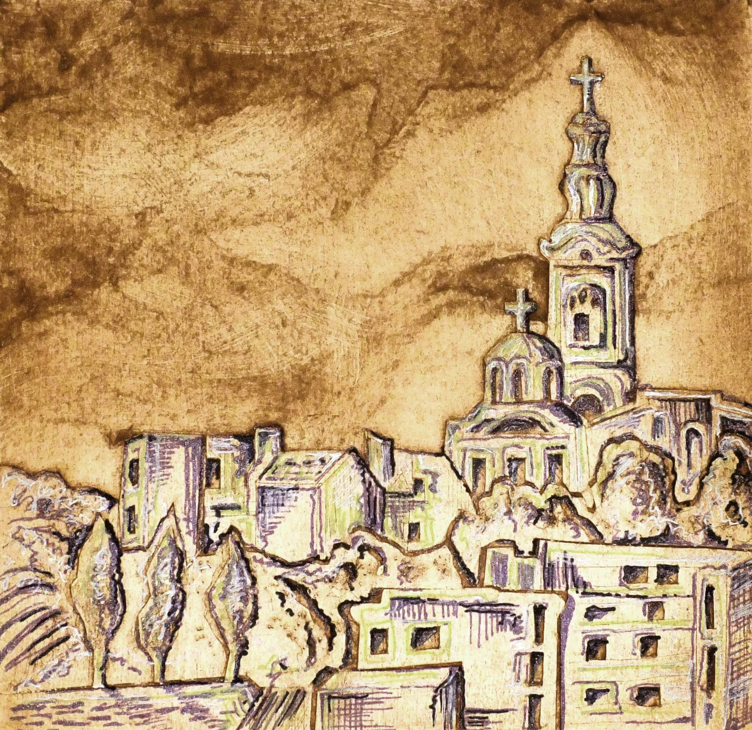 Belgrade Skyline Mixed media image.jpg